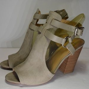 Joe's Jeans Ingrid Peep Toe Suede Sandals